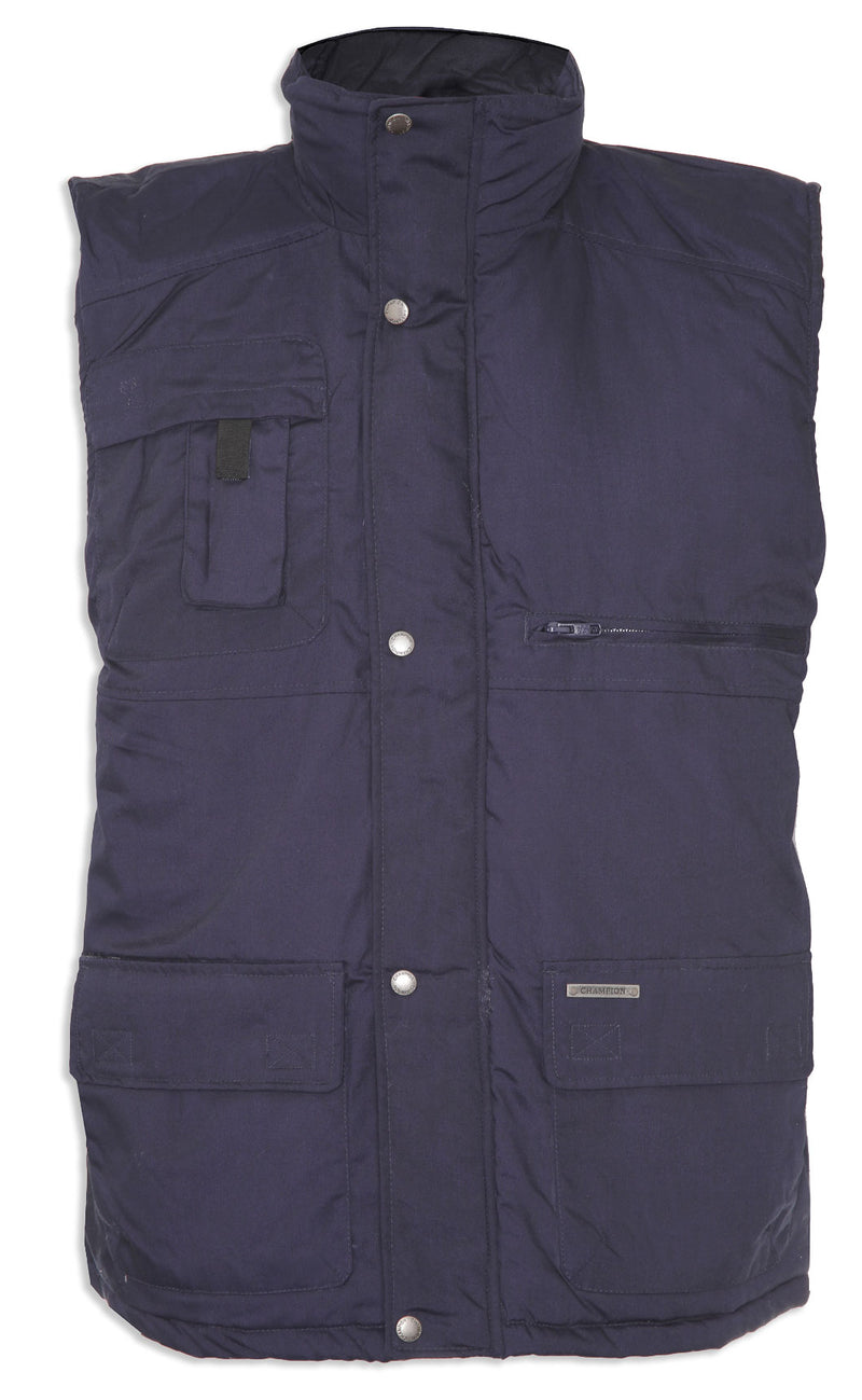 navy Champion Peak Multi-Pocket Padded Body warmer
