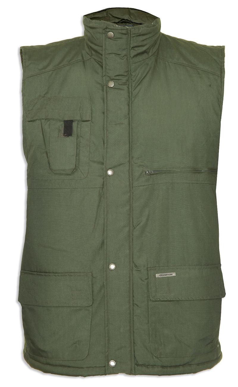 olive Champion Peak Multi-Pocket Padded Body warmer