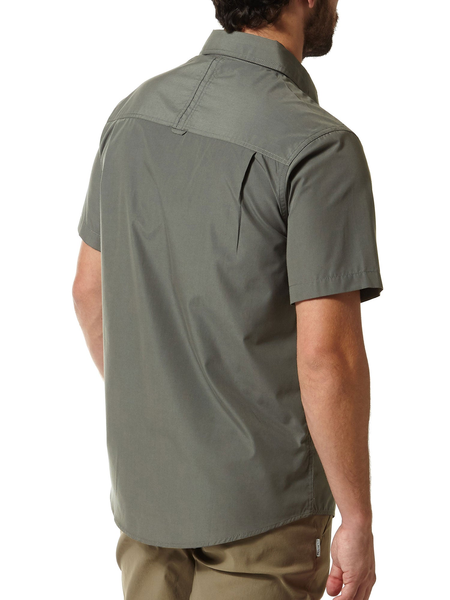 rear pleated back bush shirt