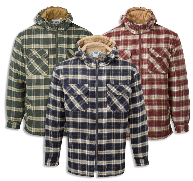 This is a great winter shirt/jacket/hoodie, thickly lined with deep pile sherpa fleece in the body to keep you warm on the coldest of days.