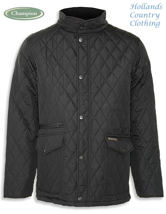Black Champion Penrith Men's Diamond Quilted Jacket