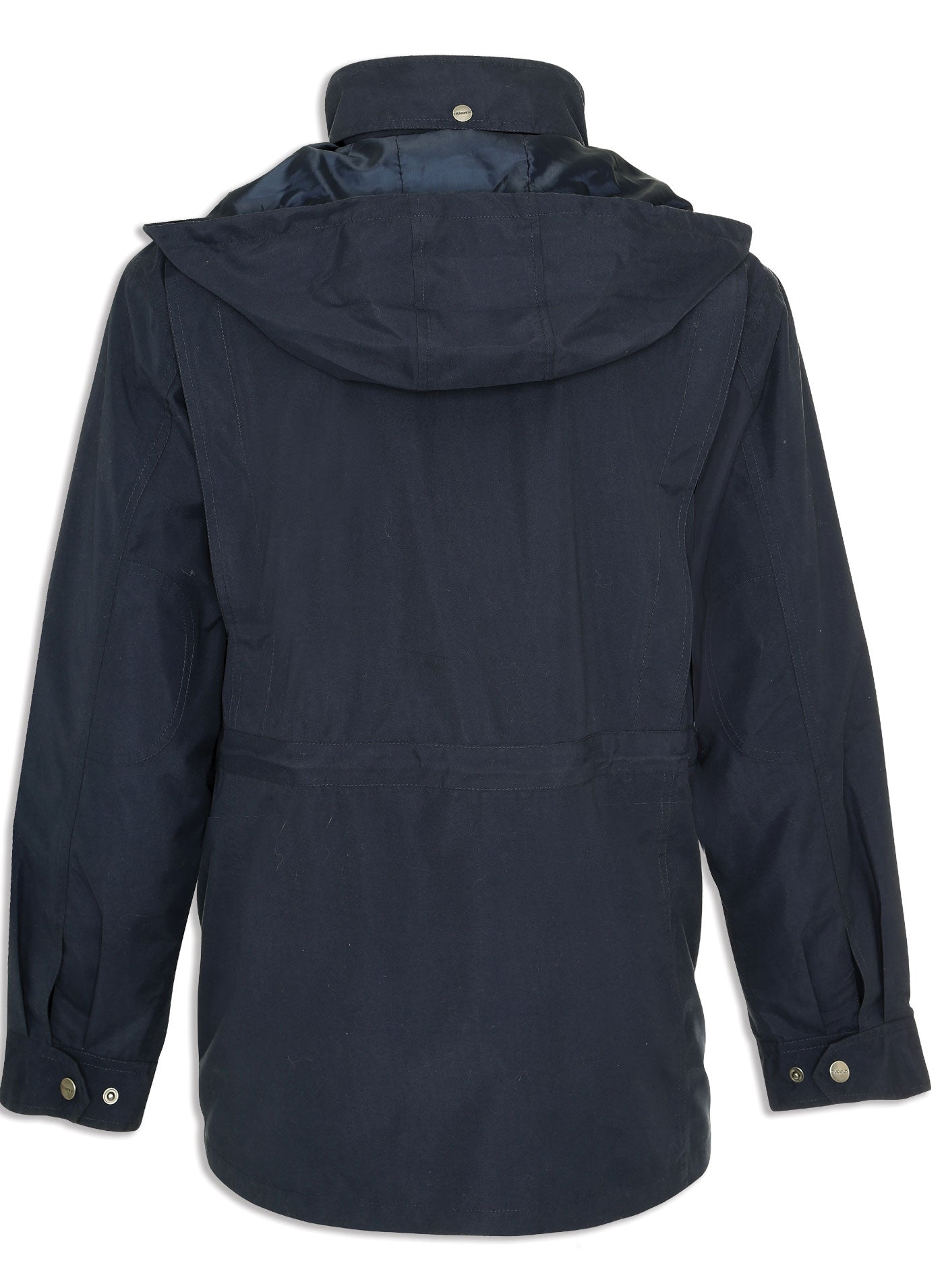 the back view of the Pevensey Travel jacket in Navy