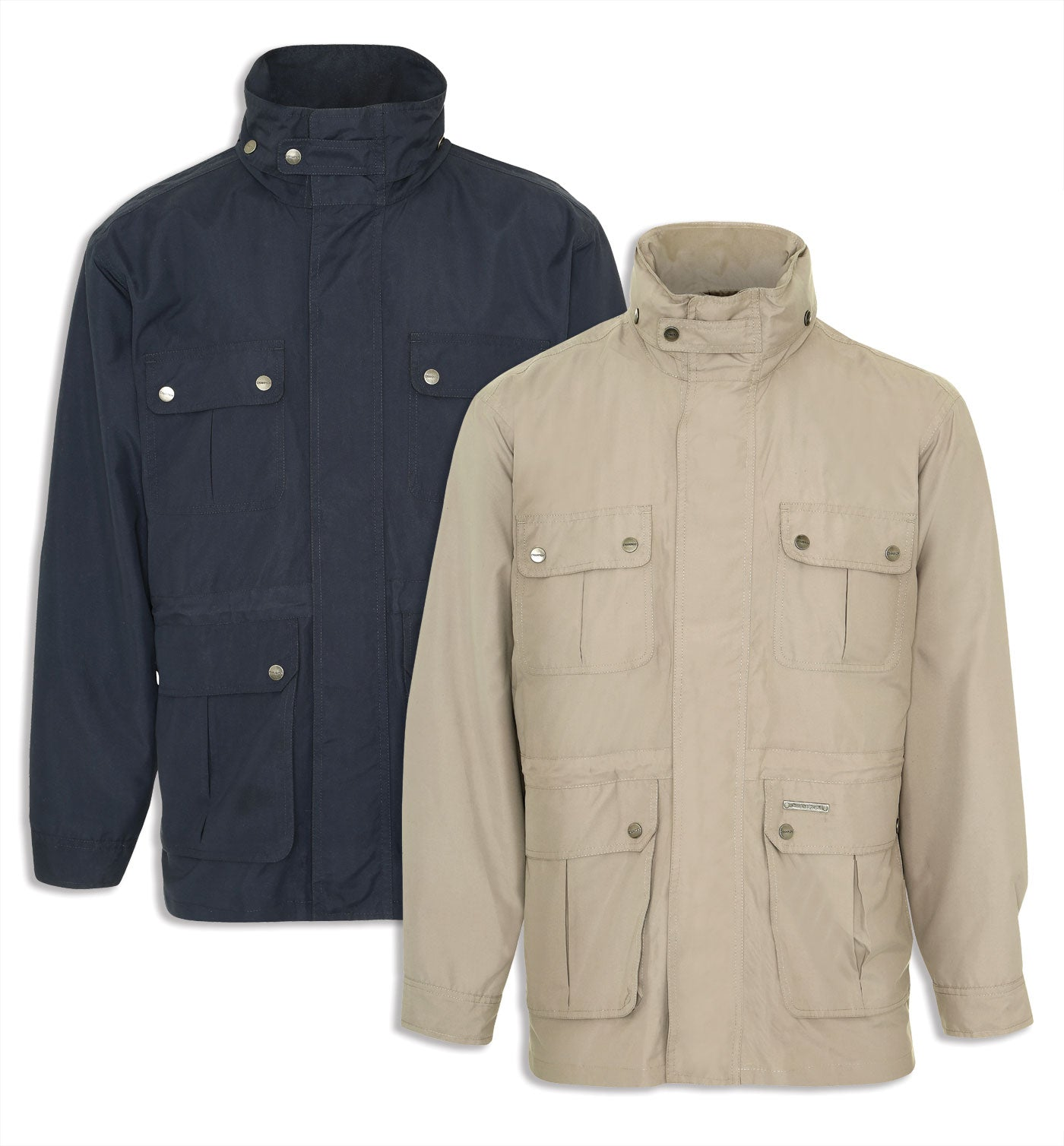 Champion Pevensey multi pocket jacket in navy and stone