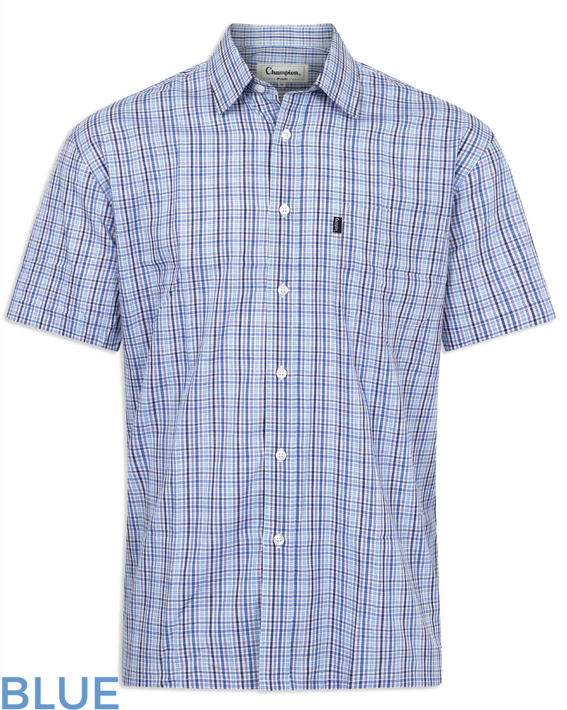 Blue Champion Poole Short Sleeve Shirt