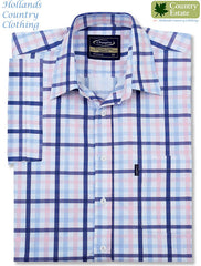 pink and blue Champion Prestwick Short Sleeved Shirt