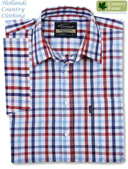 red and blue check summer shirt from champion