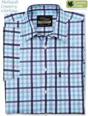 blue check Champion Prestwick Short Sleeved Shirt