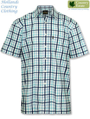 turquoise Champion Prestwick Short Sleeved Shirt