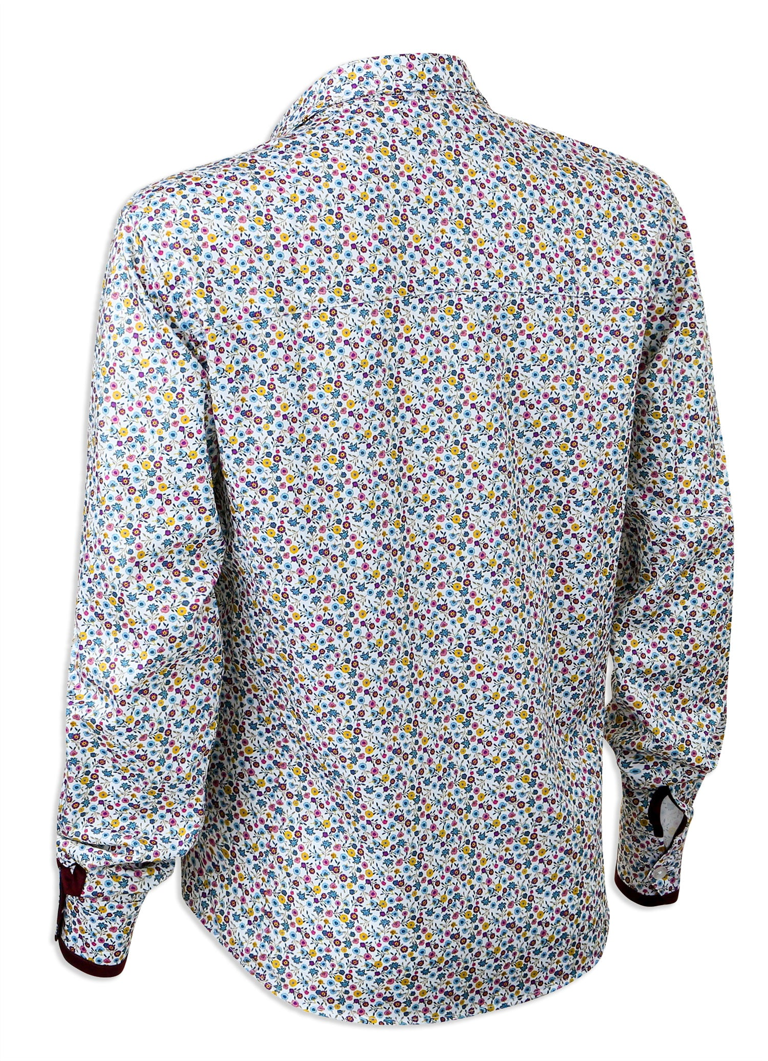 rear view Hartwell Layla Cotton Shirt | Pretty Flowers