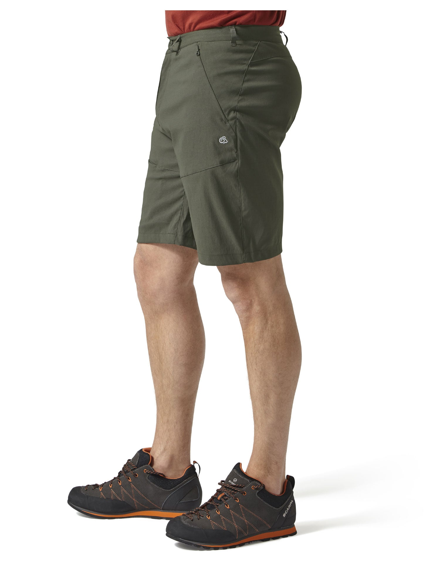 Khaki green Men's Kiwi Pro Shorts by Craghoppers