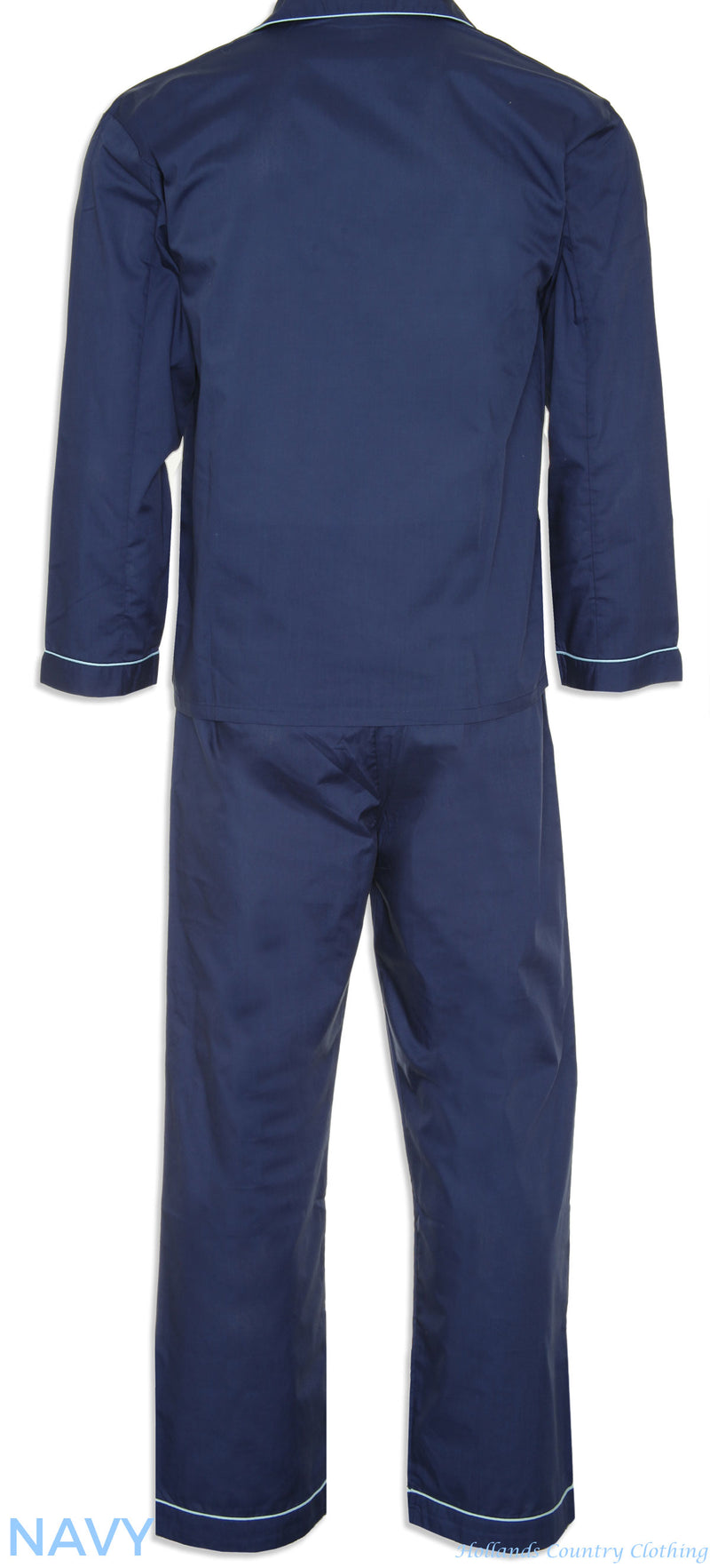 Look forward to a great night's sleep in crisp Oxford PJ's with contrast colour piping navy