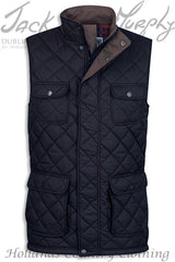 Black Jack Murphy Timothy Diamond Quilted bodywarmer Gilet