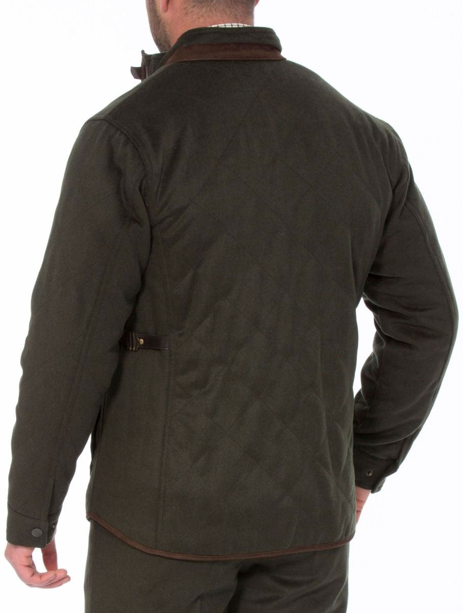 rear view Alan Paine Loden Quilted Jacket
