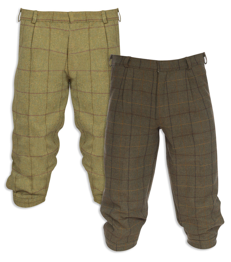 Alan Paine Rutland Tweed Breeks | Dark Moss, Lichen
