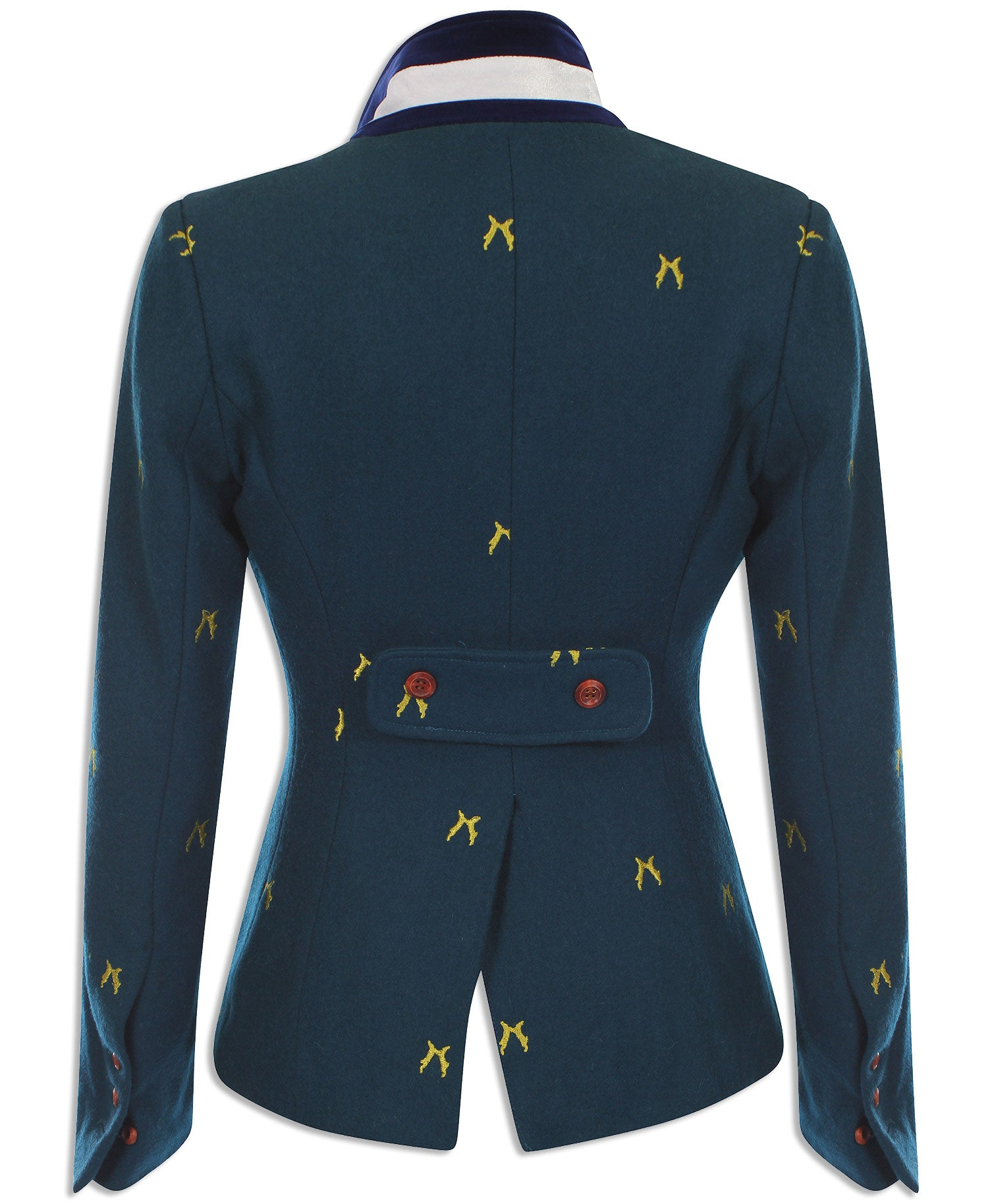 rear view Sporting Hares Beauchamp Blazer | Royal Teal