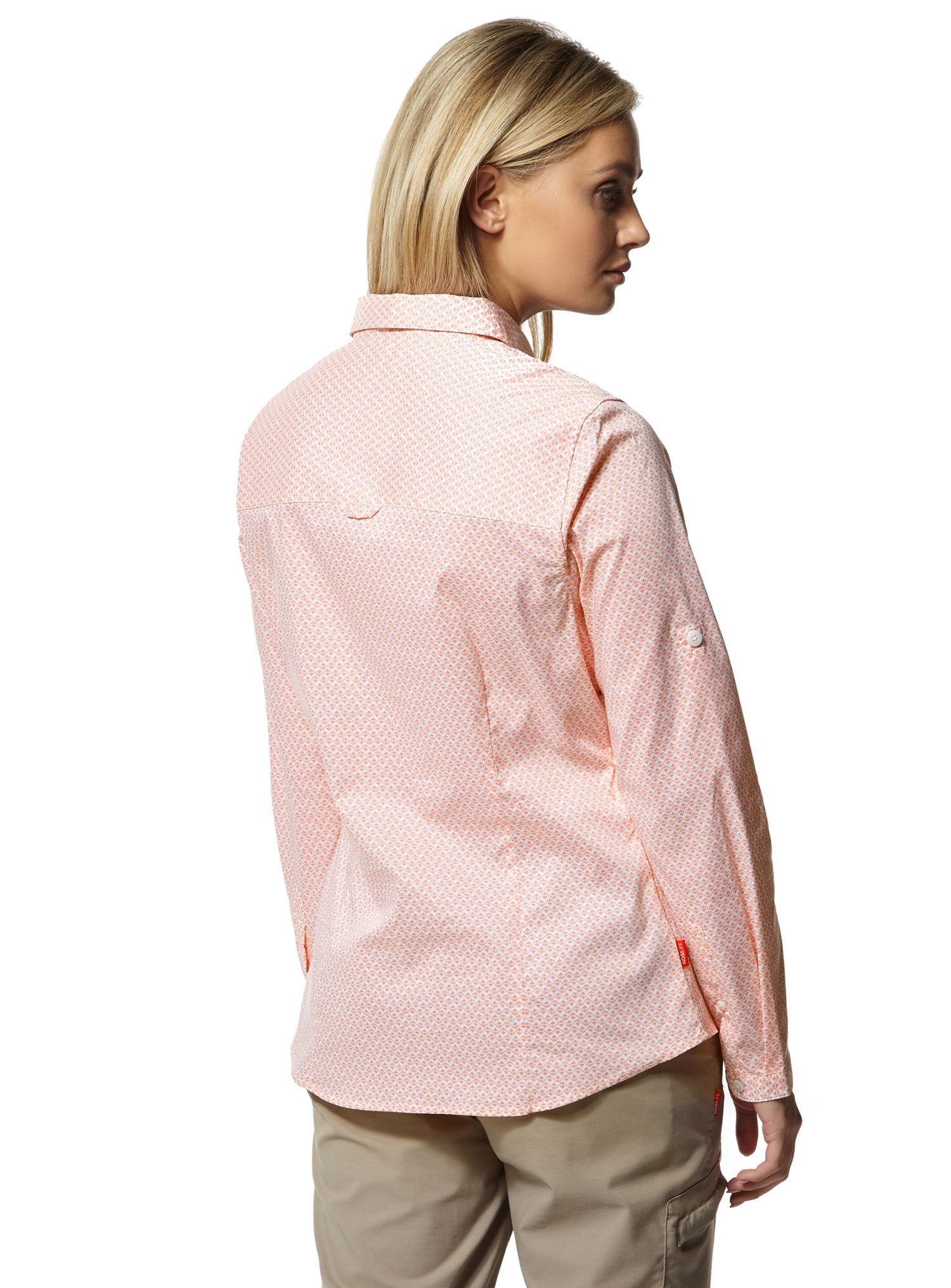 Back view lady wearing Ladies Verona Shirt by Craghoppers