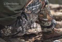 Photorealistic disruptive Camouflage with realtree and leaf images