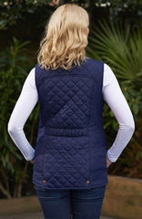 lady wearing Champion Dorney Ladies Quilted Gilet rear view