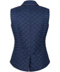 rear view quilted gilet