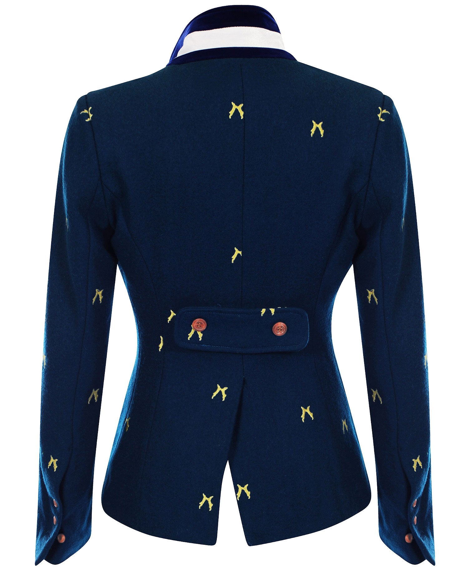 showing back vent Beauchamp Ladies Blazer by Sporting Hares