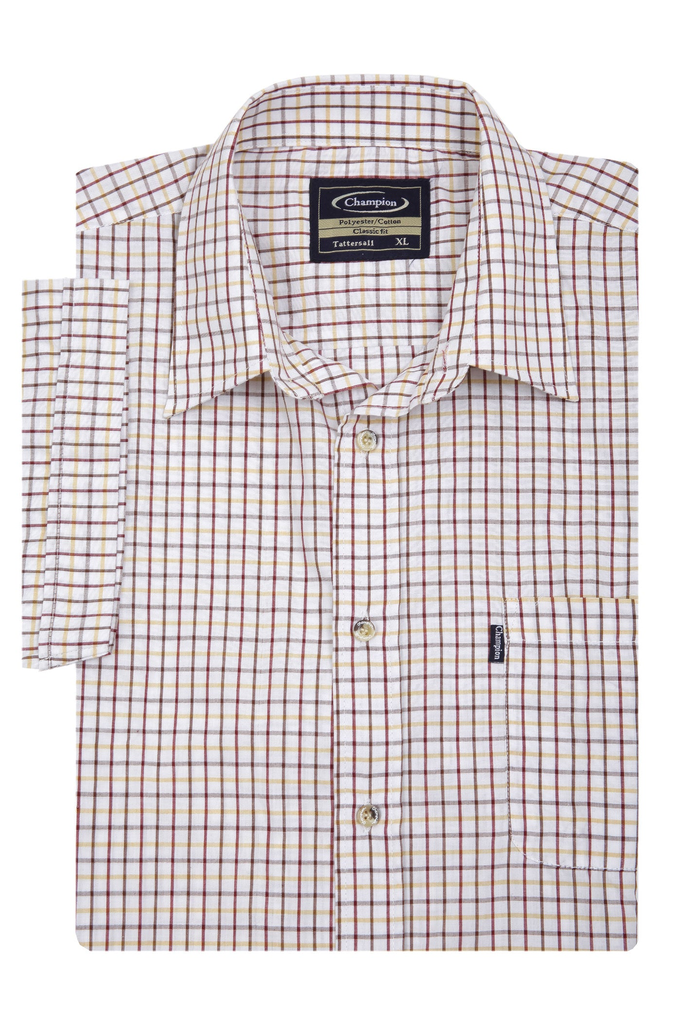 size XXL Champion summer Tattersall, the classic country tattersall check shirt with short sleeves, ideal for summer