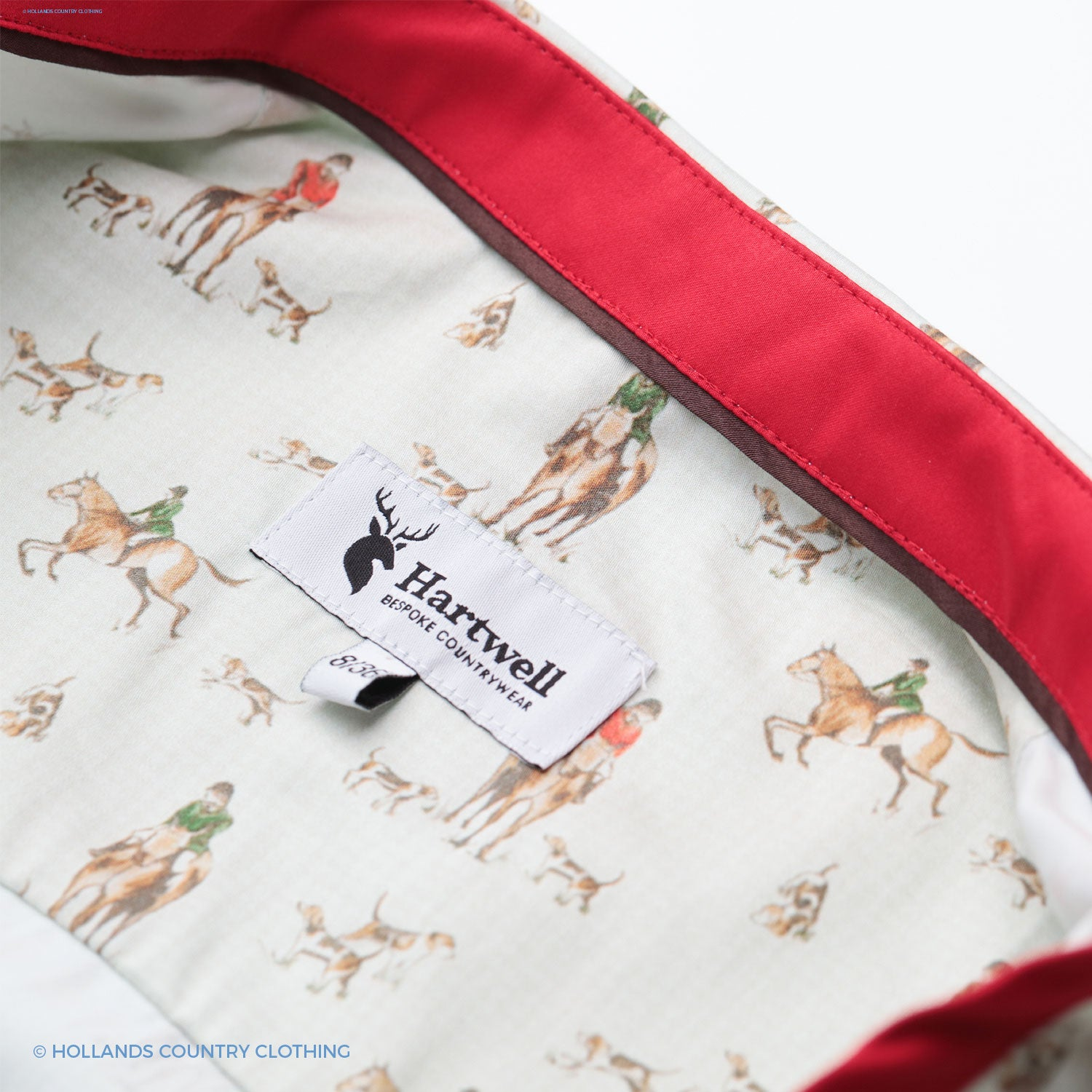 hartwell shirt clooalr detail hounds hunting decoration