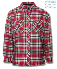 red tartan Champion Fontwell Padded Quilted Work Shirt