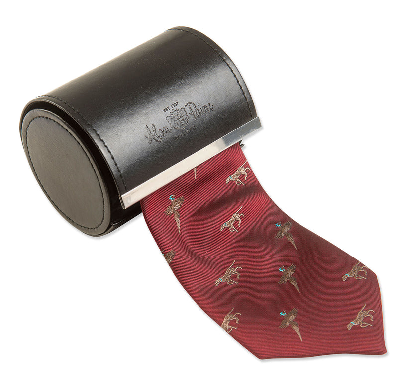 bordeaux red Ripon Tie -  Game Birds and Gun Dogs Design