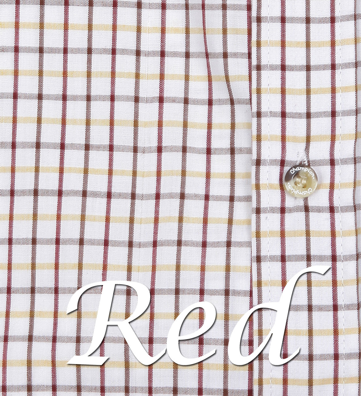 red tattersall check pattern for short sleeved shirts