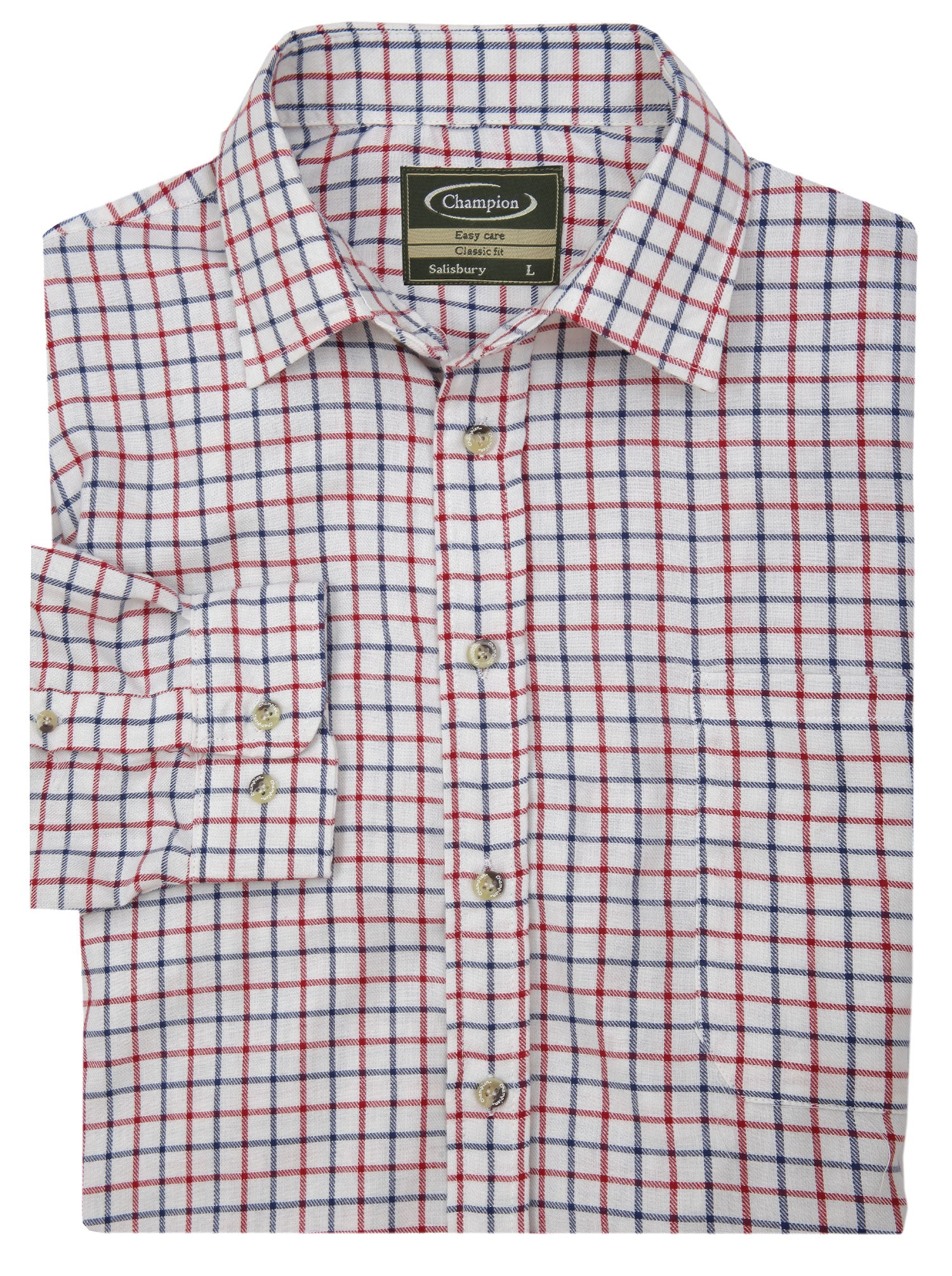 Salisbury Tattersall Country Check Shirt by Champion red and blue