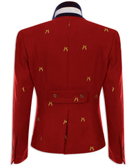rear view Sporting Hares Beauchamp Blazer | Huntsman Red