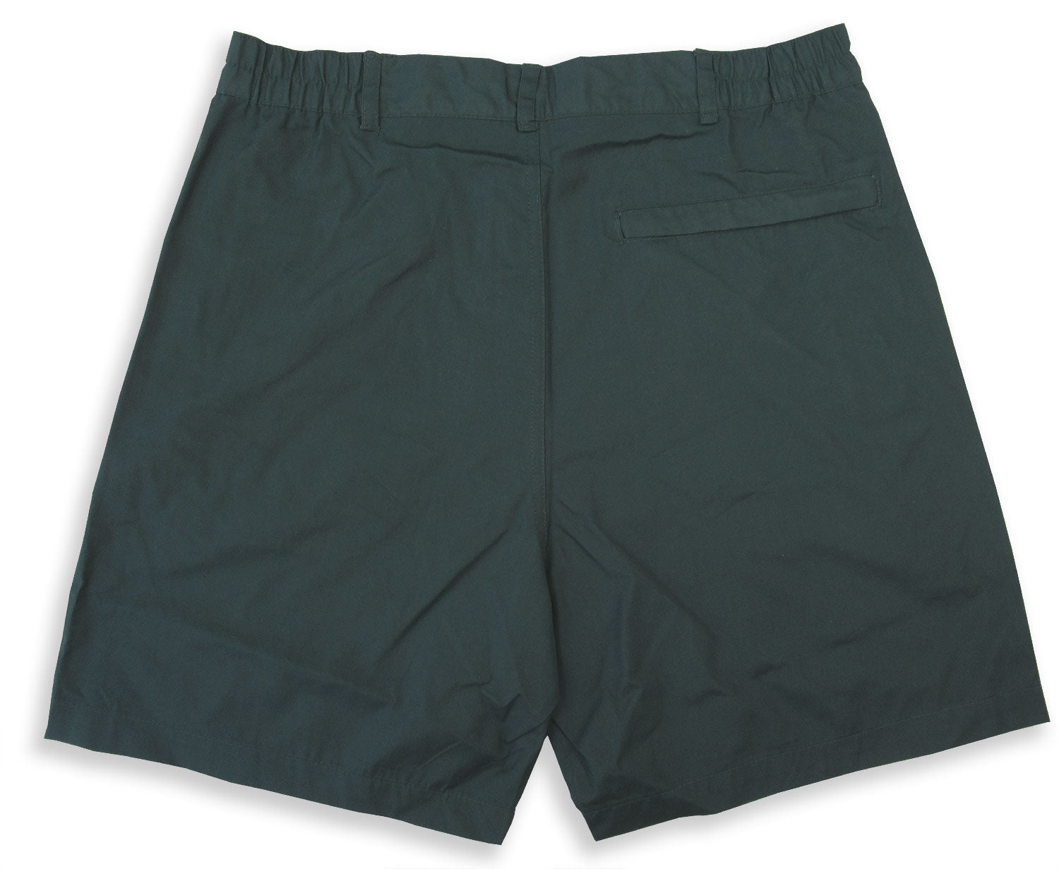 rear view Regatta Men's Action Shorts WITH LOTS OF POCKETS in Green