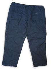 Regatta OS V Zip-Off Leg Trousers navy rear view
