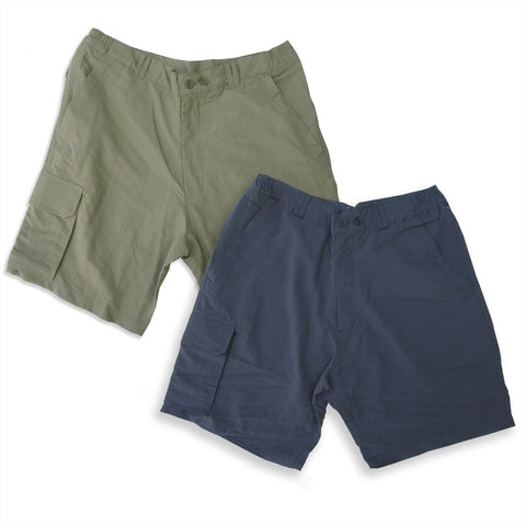 Regatta Lightweight Multi-Pocket Shorts in stone, olive navy
