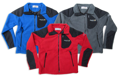 Regatta Child's Transfer Fleece in red, Blue and Grey black