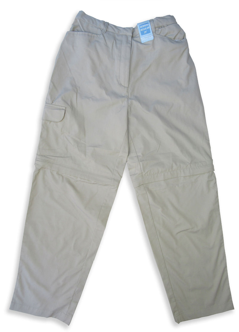 stone trekking trousers Ladies Regatta OS Zip-Off Leg Trousers