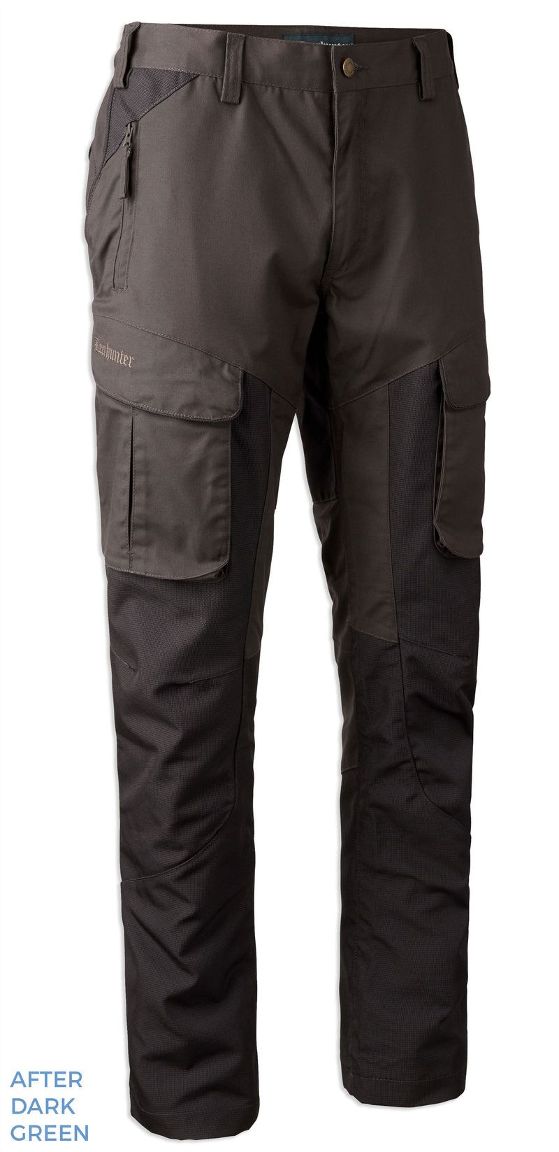 Dark Green Deerhunter Reims Trousers with Reinforcement