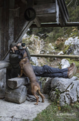Chilling with a dog Deerhunter Reims Trousers with Reinforcement