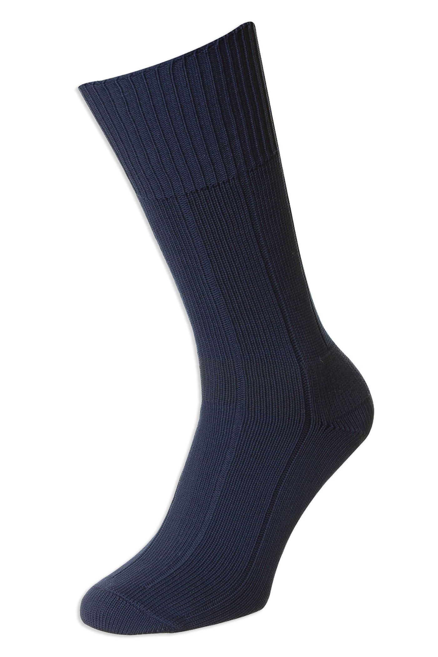 navy HJ Hall Ribbed Pattern Indestructible Sock