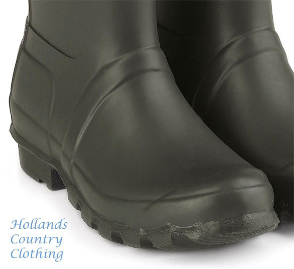 rubber foot for Jack Murphy Wicklow Rubber Wellington. Three colours, Olive, Navy and Blackberry