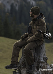 silent shooting outfit Rusky Bib and Brace Trousers by Deerhunter