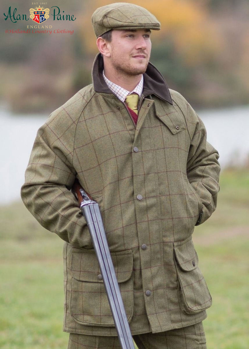 shooting outfit with Alan Paine Rutland Tweed Flat Cap