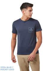 Pocket Logo Steel Blue Nelson T-Shirt by Craghoppers