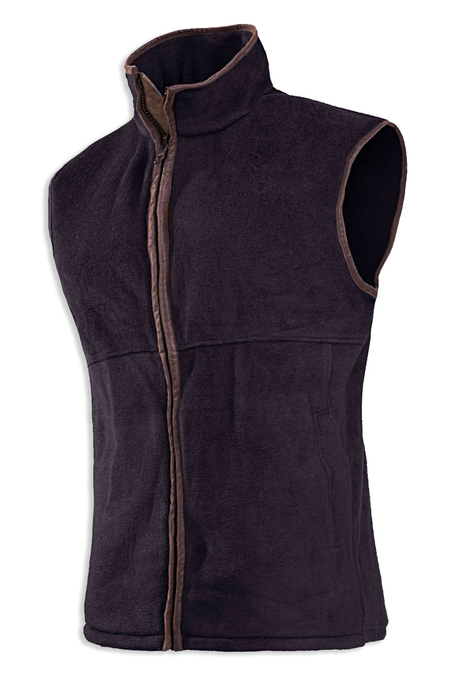 brown chocolate Baleno Sally Ladies Fleece Gilet