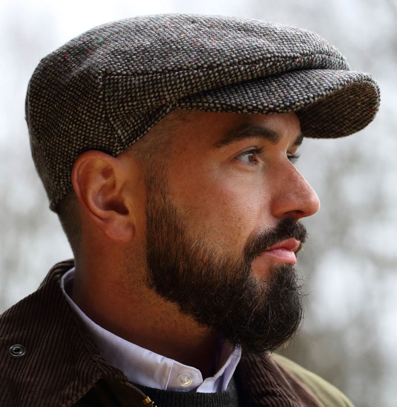 Full Body Tweed Flat Cap by Hanna Hats of Donegal