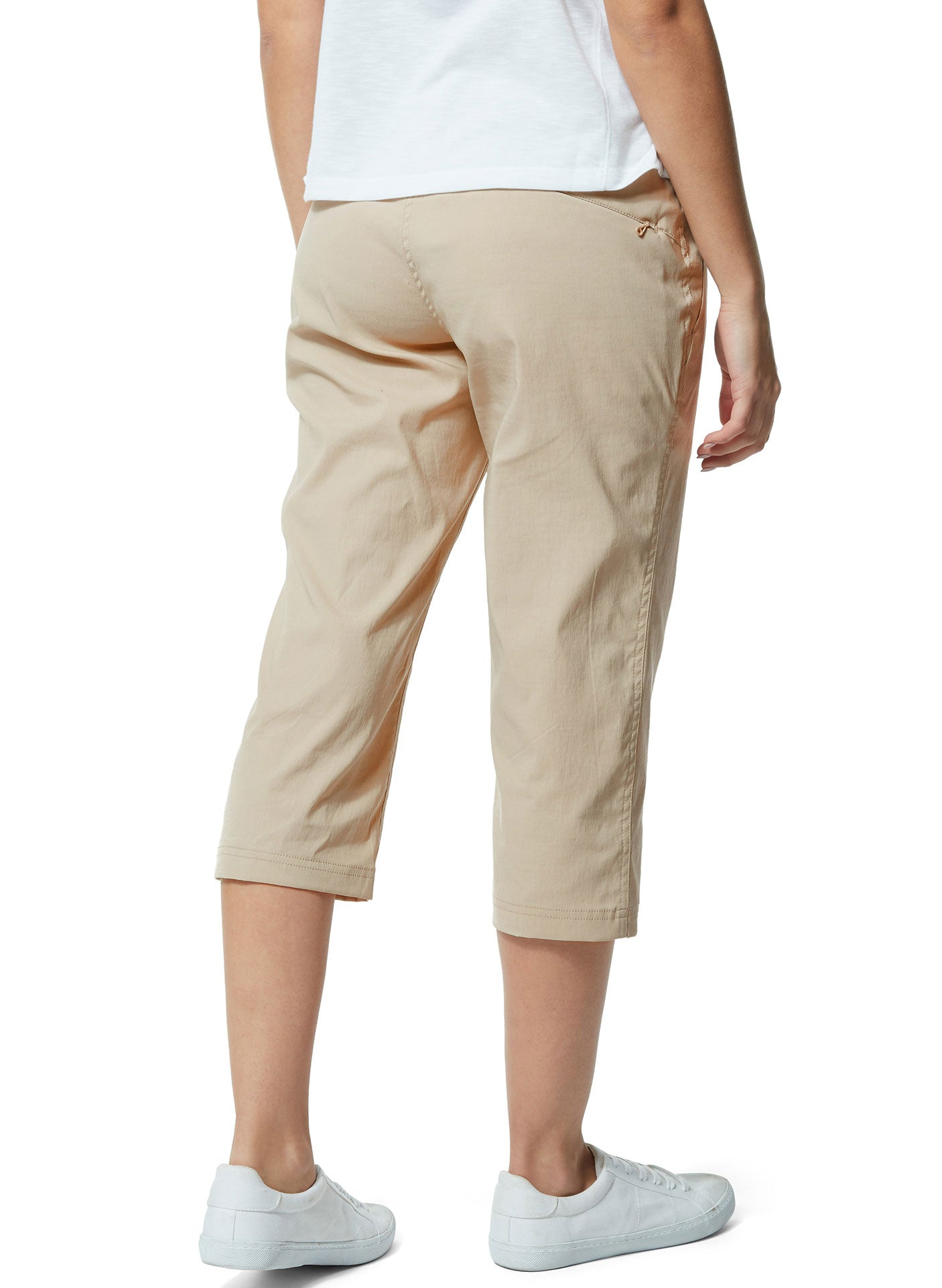 Rear view Craghoppers Kiwi Pro Crop II Trousers in desert sand