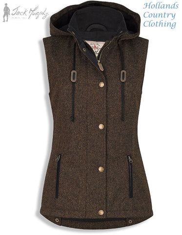 Jack Murphy Sandra Tweed Gilet fleece lined