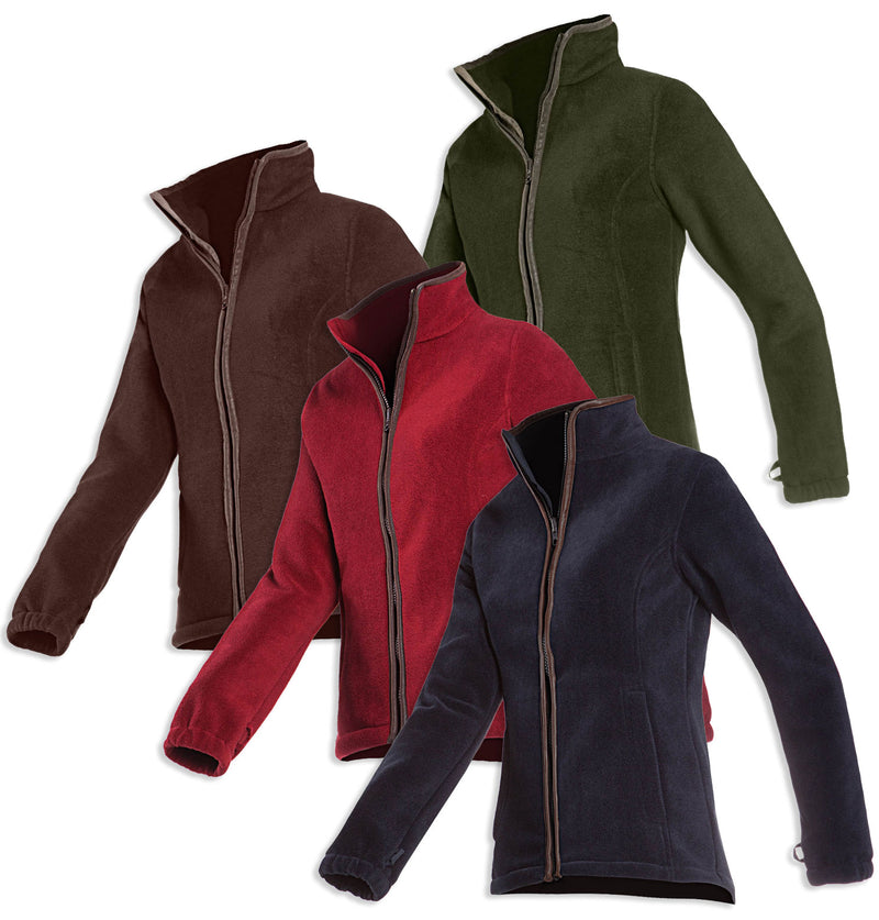 Baleno Sarah Ladies Fleece Jacket in blue red green and brown