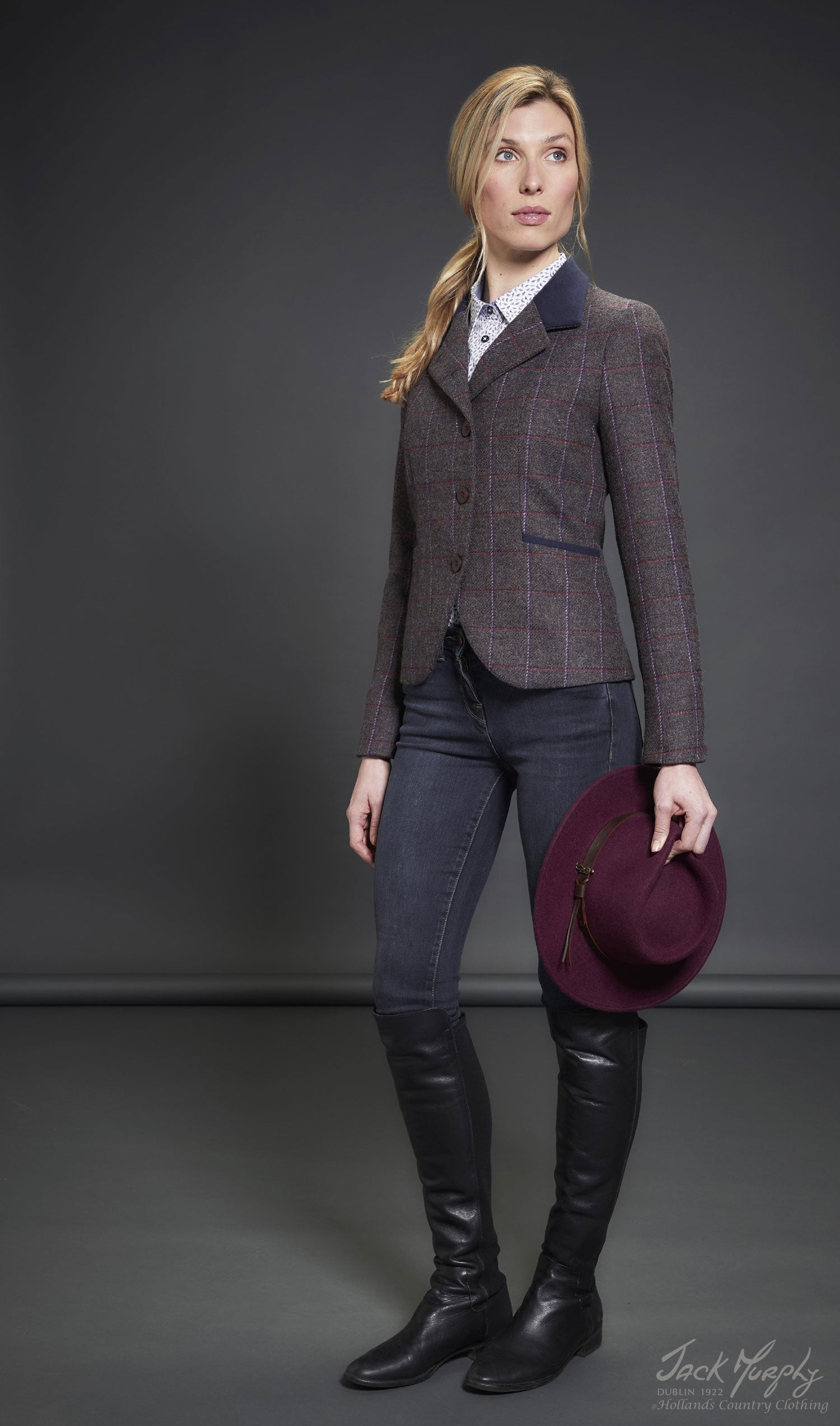 Sasha Tweed Hacking Jacket by Jack Murphy Burren Heather Tweed