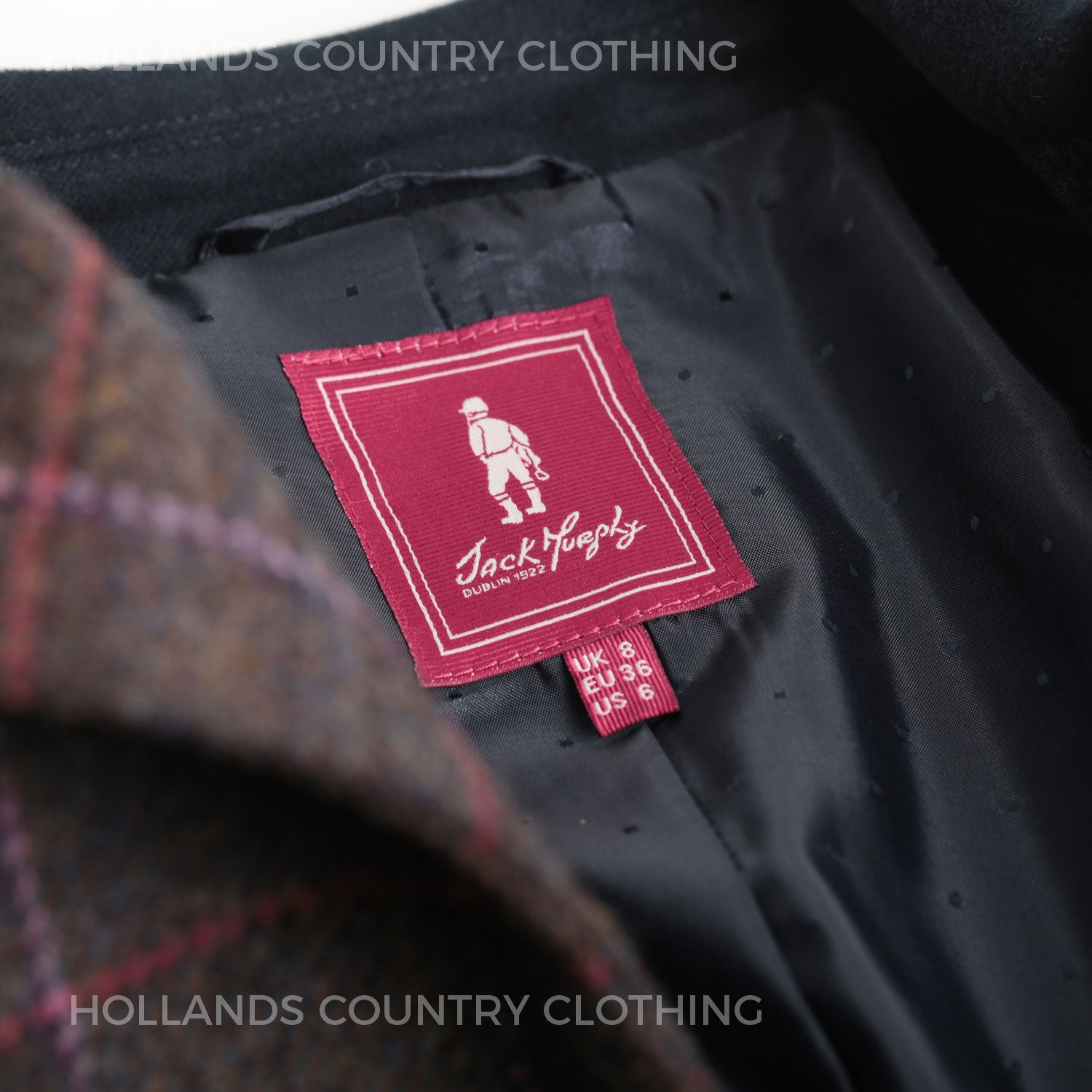 Jack Murphy Jacket label